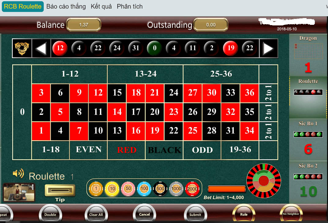 Roulette online win2888 ban choi
